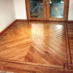 entrance Hardwood Flooring with a design